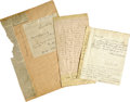 Autographs:U.S. Presidents, Autographs of Four Men Who Voted For George Washington and Abraham Lincoln. This quirky little collection was assembled late... (Total: 4 Items)