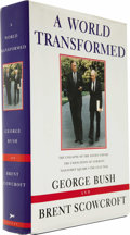 Autographs:U.S. Presidents, George H. W. Bush & Brent Scowcroft: A World TransformedSigned by Both Authors to Neil and Sharon Bush (New Yor...