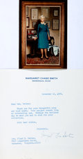 Autographs:Statesmen, Margaret Chase Smith (1897-1995). Typed Letter and Color PhotographSigned. November 12, 1976. Photo measures 3.5 x 5 inches...