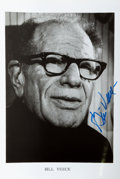 Autographs:Celebrities, [Baseball]. Bill Veeck (1914-1986) Photograph Signed. Ca. 1976.Black and white. Measures 5 x 7 inches. Very good. ...