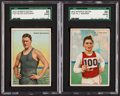 """Olympic Cards:General, 1912 T227 """"Series of Champions"""" SGC Graded Pair (2) - One of EachBrand. ..."""