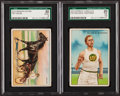 "Olympic Cards:General, 1912 T227 Miner's Extra ""Series of Champions"" SGC Graded pair (2)...."