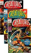 Bronze Age (1970-1979):Horror, Creatures on the Loose #10-37 Near Complete Range Group (Marvel,1971-75) Condition: Average VG.... (Total: 54 Comic Books)