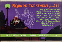 "Square Treatment for All (Mather and Company, 1923). Motivational Poster (28"" X 41.5""). Miscellaneous"