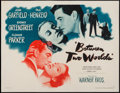 "Movie Posters:Mystery, Between Two Worlds (Warner Brothers, 1944). Half Sheet (22"" X 28"")Style A. Mystery.. ..."
