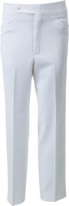 Music Memorabilia:Costumes, Elvis Presley Owned and Worn White Dress Pants (1970s)....