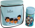 Music Memorabilia:Memorabilia, Beatles Vinyl Brunch Box with Original Thermos (NEMS, 1965)....