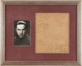 Movie/TV Memorabilia:Autographs and Signed Items, A Bela Lugosi Signed Black and White Photograph and Document,1943.. ...