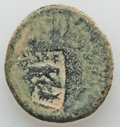 Ancients:Judaea, Ancients: 10th Fretensis Roman Legion. Countermarks on Æ 24mm ofunidentified Judaean city  (13.63 gm)....
