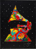 Music Memorabilia:Posters, Peter Max Signed Limited Edition Serigraph from The Grammys,1991....
