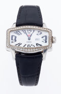Timepieces:Wristwatch, Michele Diamond & Stainless Steel Retro Wristwatch. ...