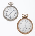 Timepieces:Pocket (post 1900), Illinois & Elgin Open Face Pocket Watches Runners. ... (Total:2 Items)