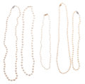Estate Jewelry:Pearls, Pearl Necklace Lot. ... (Total: 5 Items)