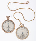 Timepieces:Pocket (post 1900), Hamilton Model 921 & Elgin Open Face Pocket Watches. ... (Total: 2 Items)