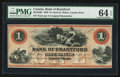 Canadian Currency: , Sault St. Marie, CW- Bank of Brantford $1 Nov. 1, 1859 Ch. #40-12-02R Remainder. ...