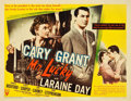 "Movie Posters:Romance, Mr. Lucky (RKO, 1943). Half Sheet (22"" X 28"") Style B. Romance.. ..."