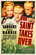 "Movie Posters:Mystery, The Saint Takes Over (RKO, 1940). One Sheet (27"" X 41"").. ..."