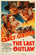 "Movie Posters:Western, The Last Outlaw (RKO, 1936). One Sheet (27"" X 41"").. ..."