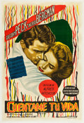"""Movie Posters:Hitchcock, Spellbound (Astor Film, R-Late 1940s). Argentinean Poster (29"""" X 43"""").. ..."""