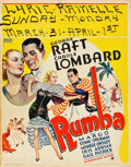 "Movie Posters:Drama, Rumba (Paramount, 1935). Jumbo Window Card (22"" X 28"").. ..."