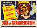 "Movie Posters:Horror, Son of Frankenstein (Realart, R-1953). Half Sheet (22"" X 28"").. ..."