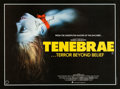 """Movie Posters:Horror, Tenebre (Anglo American, 1983). Autographed British Quad (30"""" X 40"""").. ..."""