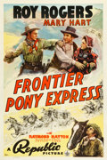 "Movie Posters:Western, Frontier Pony Express (Republic, 1939). One Sheet (27"" X 41"").. ..."