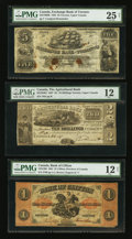 Canadian Currency: , Toronto, UC- The Agricultural Bank $2 Oct. 1, 1837 Ch. #20-12-04-04. Clifton, PC- The Bank of Clifton $1 Sep. 1, 1861 C...(Total: 3 notes)