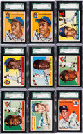 Baseball Cards:Lots, 1954 - 1956 Topps Baseball Shoe Box Collection (450+). ...