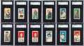 "Baseball Cards:Sets, 1909-11 T206 White Borders Partial Set (213) With HoFers &Almost 60 ""Polar Bear"" Backs. ..."