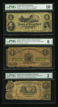 Canadian Currency: , Brantford, CW- Bank of Brantford $4 Nov. 1, 1859 Ch. # 40-10-02-06.Charlotte Town, PEI- Bank of Prince Edward Island $1... (Total: 3notes)