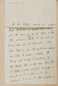 Autographs:Authors, Sir Thomas Noon Talfourd (1795-1854, English politician andauthor). Autograph Letter Signed. December 23, 1885. Measures 5 ...