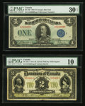 Canadian Currency: , DC-22a-i $2 1914. DC-25h $1 1923. ... (Total: 2 notes)
