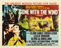 "Movie Posters:Academy Award Winners, Gone with the Wind (MGM, R-1954). Half Sheet (22"" X 28"") Style A....."