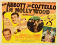 "Movie Posters:Comedy, Abbott and Costello in Hollywood (MGM, 1945). Half Sheet (22"" X28"") Style B.. ..."