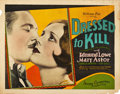 "Movie Posters:Crime, Dressed to Kill (Fox, 1928). Half Sheet (22"" X 28"").. ..."