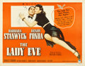 "Movie Posters:Comedy, The Lady Eve (Paramount, R-1949). Half Sheet (22"" X 28"") Style A....."
