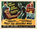 """Movie Posters:Comedy, Abbott and Costello Meet the Invisible Man (UniversalInternational, 1951). Half Sheet (22"""" X 28"""") Style B.. ..."""