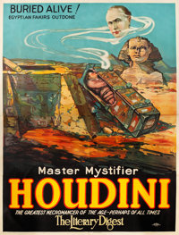 "Houdini ""Buried Alive!"" (Otis Litho, 1926). Eight Sheet (81"" X 106"")"