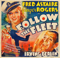 "Follow the Fleet (RKO, 1936). Six Sheet (79"" X 80"")"