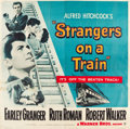 "Movie Posters:Hitchcock, Strangers on a Train (Warner Brothers, 1951). Six Sheet (79"" X80"").. ..."
