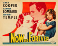 "Movie Posters:Drama, Now and Forever (Paramount, 1934). Half Sheet (22"" X 28"") Style B.. ..."