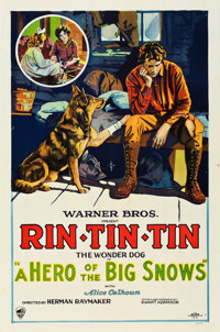 "A Hero of the Big Snows (Warner Brothers, 1926). One Sheet (27"" X 41"") Style B"