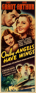 "Movie Posters:Drama, Only Angels Have Wings (Columbia, 1939). Insert (14"" X 36"").. ..."