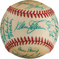 Autographs:Baseballs, 1985 New York Mets Team Signed Baseball....
