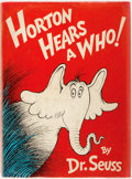 Books:Children's Books, Dr. Seuss. Horton Hears a Who. New York: Random House,[1954]. First edition. Publisher's binding and original picto...
