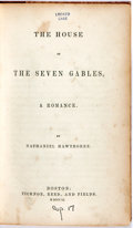 Books:Literature Pre-1900, Nathaniel Hawthorne. The House of the Seven Gables. Boston:Ticknor, Reed, and Fields, 1851. Octavo. Later printing....