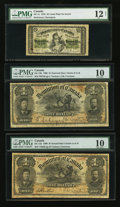 Canadian Currency: , DC-1c 25 Cents 1870. DC-13a $1 1898. DC-13b $1 1898. ... (Total: 3notes)