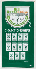 Basketball Collectibles:Others, Bill Russell Signed Boston Celtics Banner....