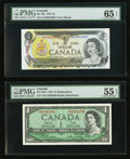 Canadian Currency: , BC-37bA $1 1954 Replacement Note *D/O Prefix. BC-46b $1 1973. BC-49bA $10 1971 Replacement Note *DK Prefix. BC-51a... (Total: 4 notes)